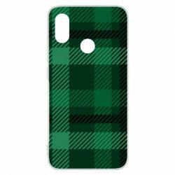 Чохол для Xiaomi Mi8 Зелений в клітку - FatLine