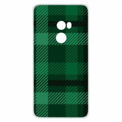 Чохол для Xiaomi Mi Mix 2 Зелений в клітку - FatLine