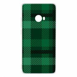 Чохол для Xiaomi Mi Note 2 Зелений в клітку - FatLine