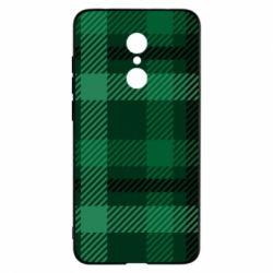 Чохол для Xiaomi Redmi 5 Зелений в клітку - FatLine
