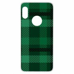 Чохол для Xiaomi Redmi Note 5 Зелений в клітку - FatLine