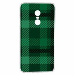 Чохол для Xiaomi Redmi Note 4 Зелений в клітку - FatLine