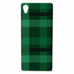 Чохол для Sony Xperia X Зелений в клітку - FatLine