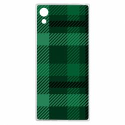 Чохол для Sony Xperia XA1 Зелений в клітку - FatLine