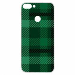 Чохол для Huawei P Smart Зелений в клітку - FatLine