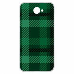 Чохол для Huawei Y7 2017 Зелений в клітку - FatLine