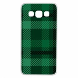 Чохол для Samsung A3 2015 Зелений в клітку - FatLine