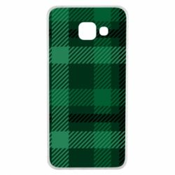 Чохол для Samsung A3 2016 Зелений в клітку - FatLine