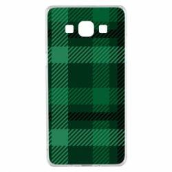 Чохол для Samsung A5 2015 Зелений в клітку - FatLine