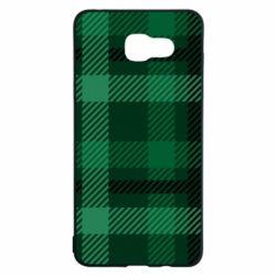 Чохол для Samsung A5 2016 Зелений в клітку - FatLine