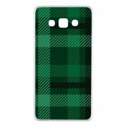 Чохол для Samsung A7 2015 Зелений в клітку - FatLine
