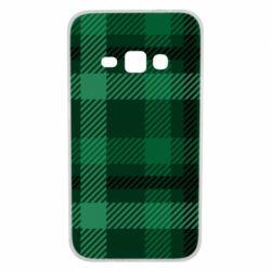 Чохол для Samsung J1 2016 Зелений в клітку - FatLine