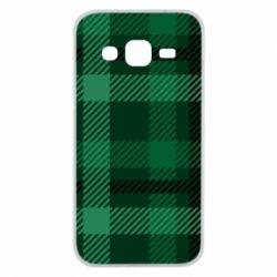 Чохол для Samsung J2 2015 Зелений в клітку - FatLine