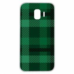 Чохол для Samsung J2 2018 Зелений в клітку - FatLine