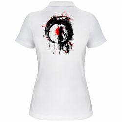 Жіноча футболка поло Zen girl art