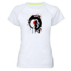 Жіноча спортивна футболка Zen girl art