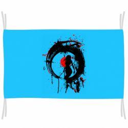 Прапор Zen girl art