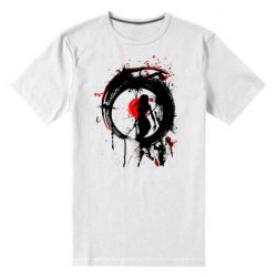 Чоловіча стрейчева футболка Zen girl art