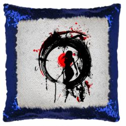 Подушка-хамелеон Zen girl art