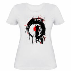 Жіноча футболка Zen girl art