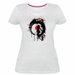Жіноча стрейчева футболка Zen girl art