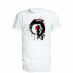 Подовжена футболка Zen girl art