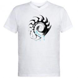 Мужская футболка  с V-образным вырезом Zerg Symbol - FatLine