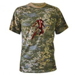 Камуфляжная футболка Железный Человек в воздухе - FatLine