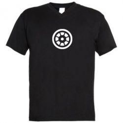 Мужская футболка  с V-образным вырезом Железный человек - FatLine