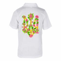 Дитяча футболка поло Жовтий герб України в кольорах