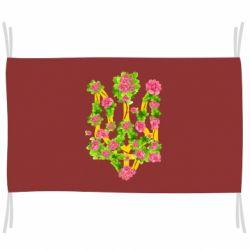Прапор Жовтий герб України в кольорах