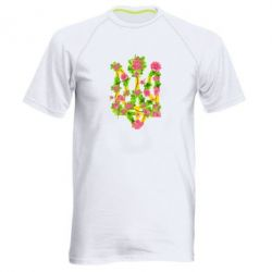 Чоловіча спортивна футболка Жовтий герб України в кольорах