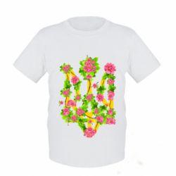 Дитяча футболка Жовтий герб України в кольорах