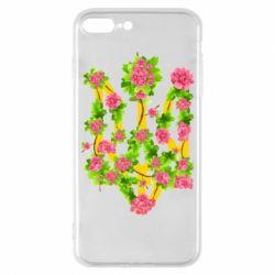 Чохол для iPhone 8 Plus Жовтий герб України в кольорах