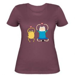 Жіноча футболка Adventure time