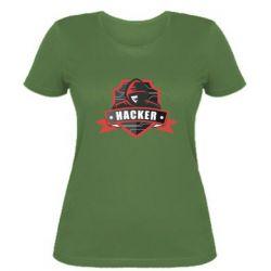 Жіноча футболка Anonymous Hacker