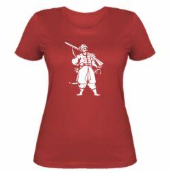 Женская футболка Cossack with a gun