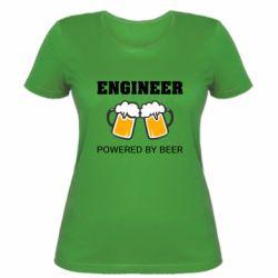 Жіноча футболка Engineer Powered By Beer