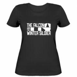 Жіноча футболка Falcon and winter soldier logo