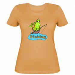 Женская футболка Fish Fishing