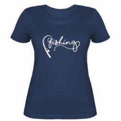 Жіноча футболка Fishing and fishing rod
