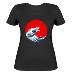 Жіноча футболка Godzilla Wave