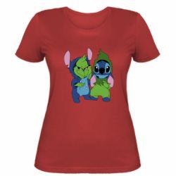 Жіноча футболка Грінч і Стіч