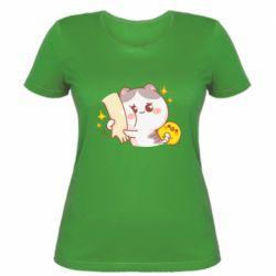 Жіноча футболка Кішка тримає руку