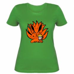 Жіноча футболка Kurama And Naruto