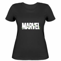 Женская футболка Marvel logo and vine