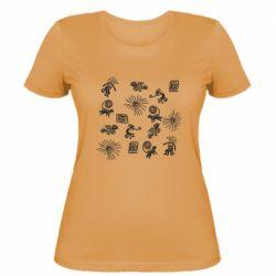 Жіноча футболка Наскальний Живопис