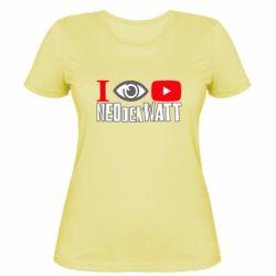 Жіноча футболка I Watch NEOdekWATT