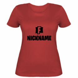 Женская футболка Nickname fortnite