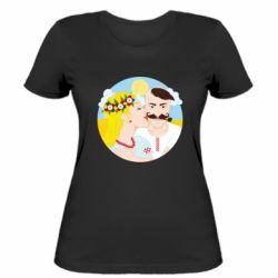 Жіноча футболка Пара козак і козачка.